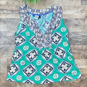 Anthropologie abstract print Top Size Medium